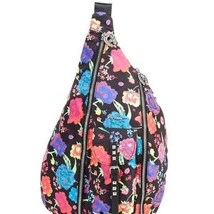 Betsey Johnson Sling Out Sista Floral Backpack